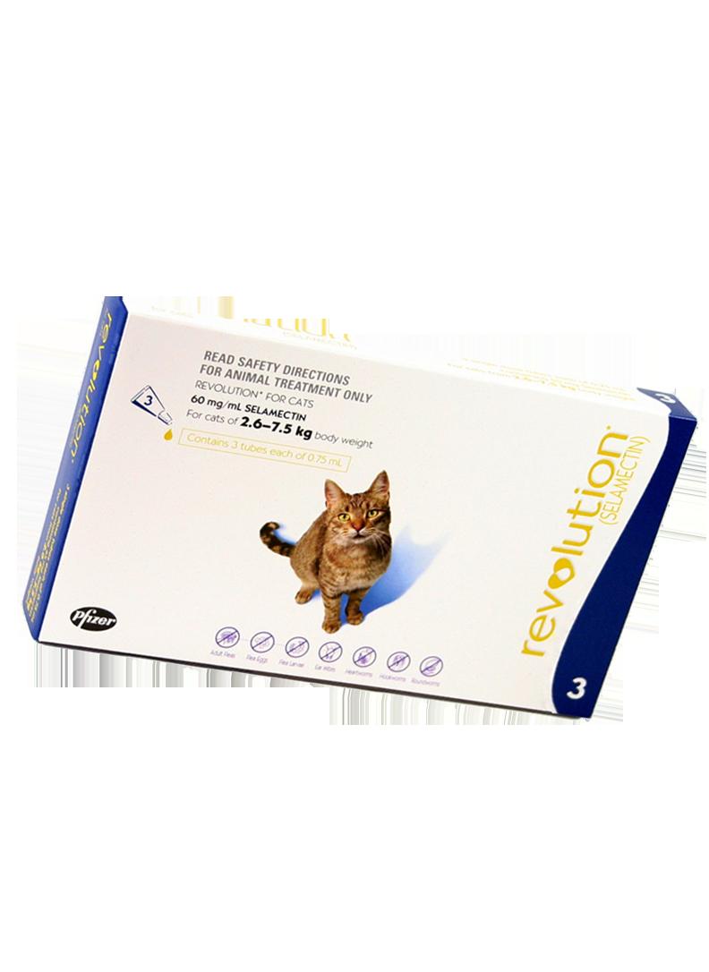 Revolution for 2.6-7.5kg Cat (Prescription Needed)