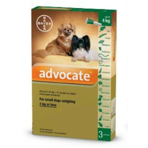 Advocate for Dogs 0-4kg / Small 3pk (Prescription Needed)