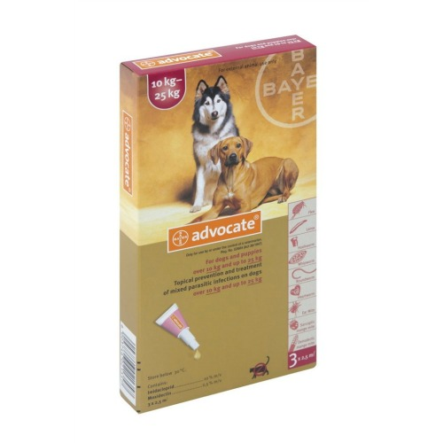 Advocate for Dogs 10-25kg / Large 3pk (Prescription Needed)