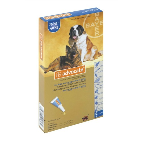 Advocate for Dogs 25-40kg / Extra Large 3pk (Prescription Needed)