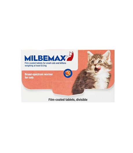 Milbemax Dewormer for Small Cats/Kittens 0-2kg (Prescription Needed)