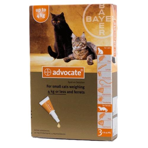 Advocate for Cats 0-4kg / Small 3pk (Prescription Needed)