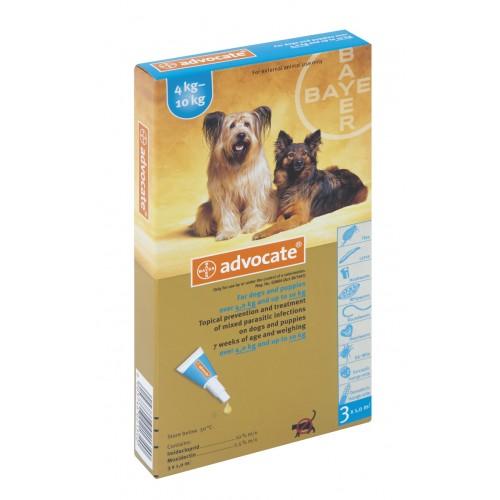 Advocate for Dogs  4-10kg / Medium 3pkt (Prescription Needed)